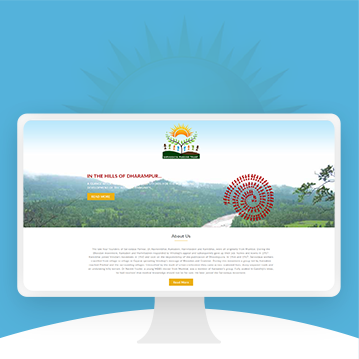 Website design for NGO in Tribal Area