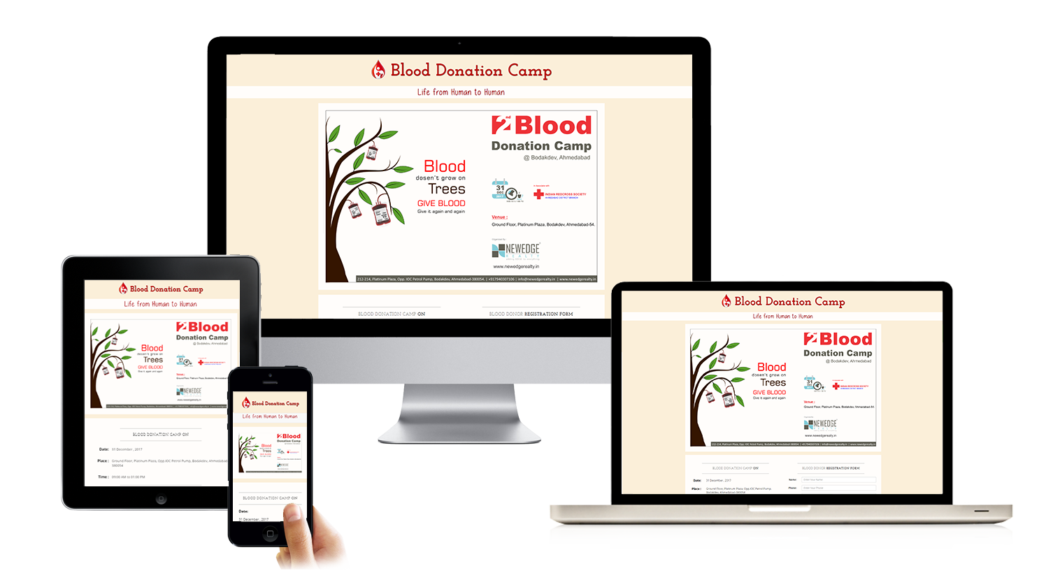 Website for Blood Donation Camp